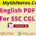 English PDF For SSC CGL
