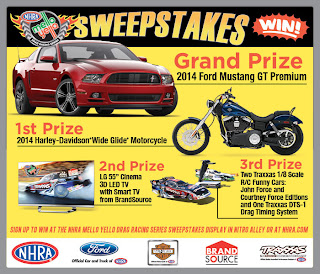 NHRA - Mello Yello Drag Racing Series Sweepstakes