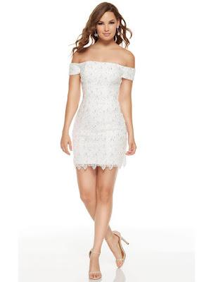 Fitted lace Alyce paris Short Graduation Dress Diamond Color