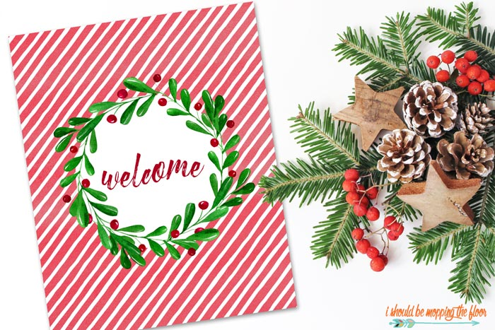 Striped Welcome Printable