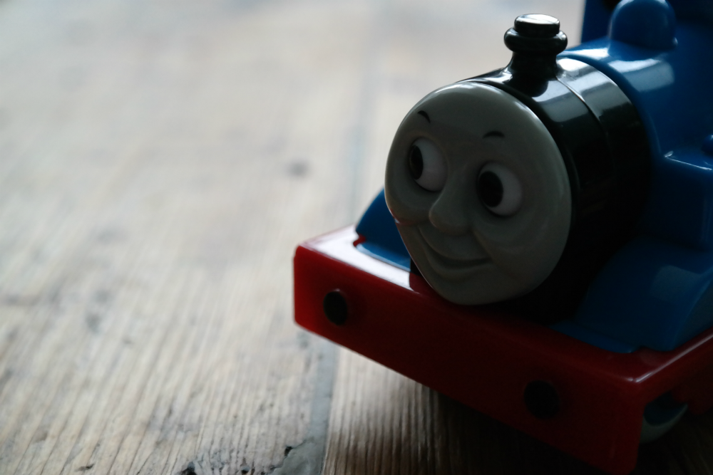 Kids' Things You Should Send To A Charity Shop: Thomas the Tank Engine Train Which Bullies Your Child