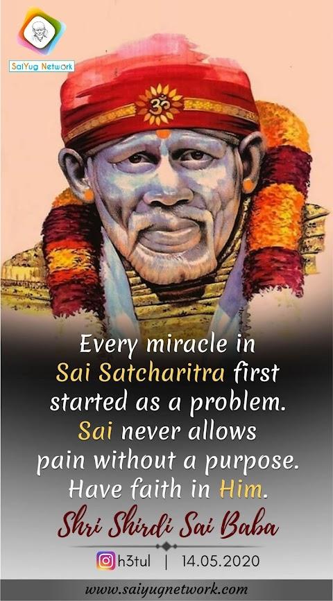 Faith Fetches Miracles - Sai Baba Idol Face Rasterized Image