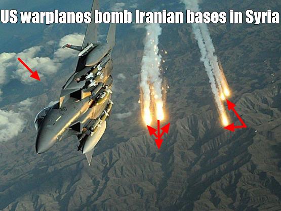 US warplanes bomb Iranian bases in Syria, killing 17