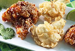 Authentic Cauliflower Tempura w/ Red Yuzo Kosho Sauce