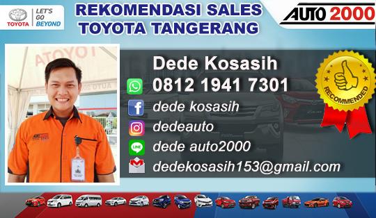 Rekomendasi Sales Toyota Kabupaten Tangerang