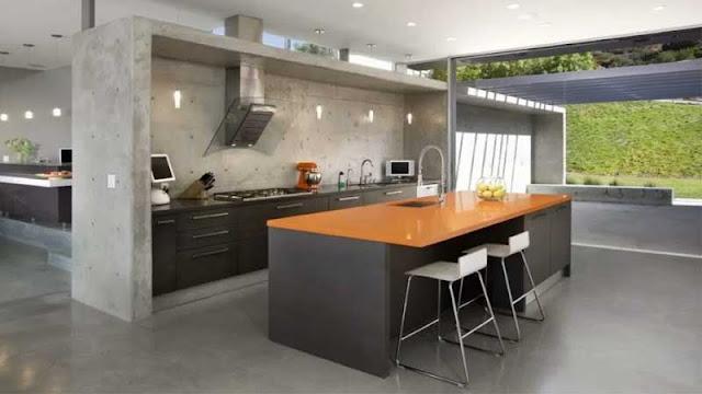 jenis lantai beton untuk ruang dapur