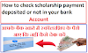 How to check scholarship payment deposited or not in your bank account
