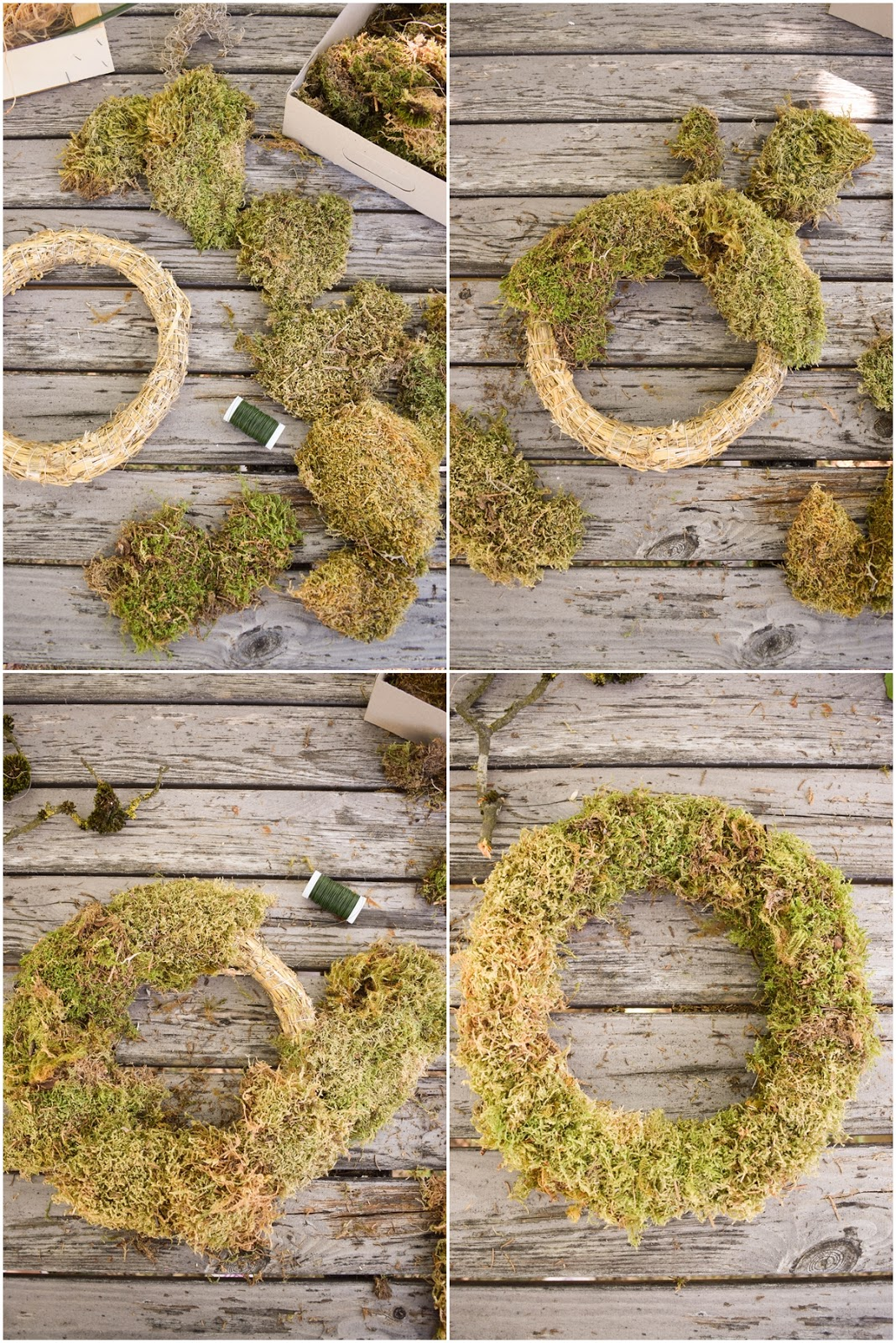 DIY Mooskranz einfach selber machen mit Moos Beeren Holz und Sisal. Naturdeko Anleitung zum Kranz binden. Dekorieren mit Natur. schritt für schritt erklärt herbstdeko