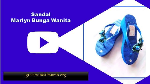 grosirsandalmurah.org - Sandal Wanita - Sandal Marlyn Bunga Wanita