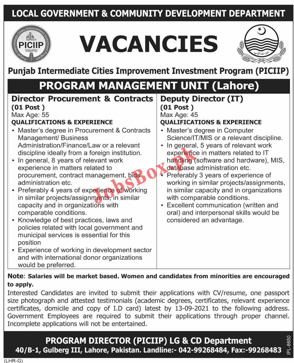 Govt jobs in Punjab 2021 | Local Government and Community Development Department Punjab Jobs 2021
