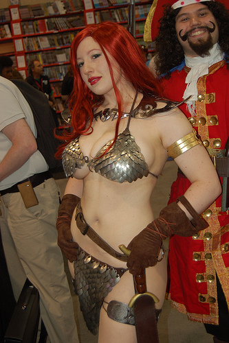 red sonya breasts cosplay
