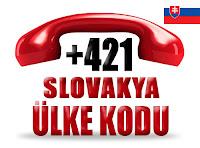 +421 Slovakya ülke telefon kodu
