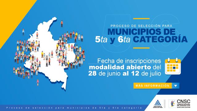 hoyennoticia.com, Más de 3.000 empleos vacantes en municipios de 5ª y 6ª categoría oferta la CNSC