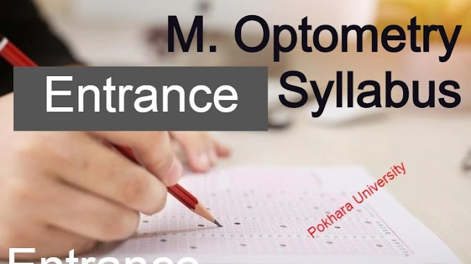 Master of Optometry: Entrance Examination Syllabus