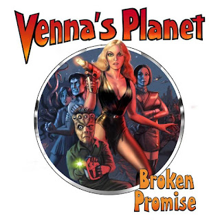 Venna's Planet cover - blonde lady shooting a laser