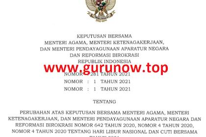 Download SKB 3 Menteri : Cuti Bersama 2021 Dipangkas Dari 7 Hari Jadi 2 Hari