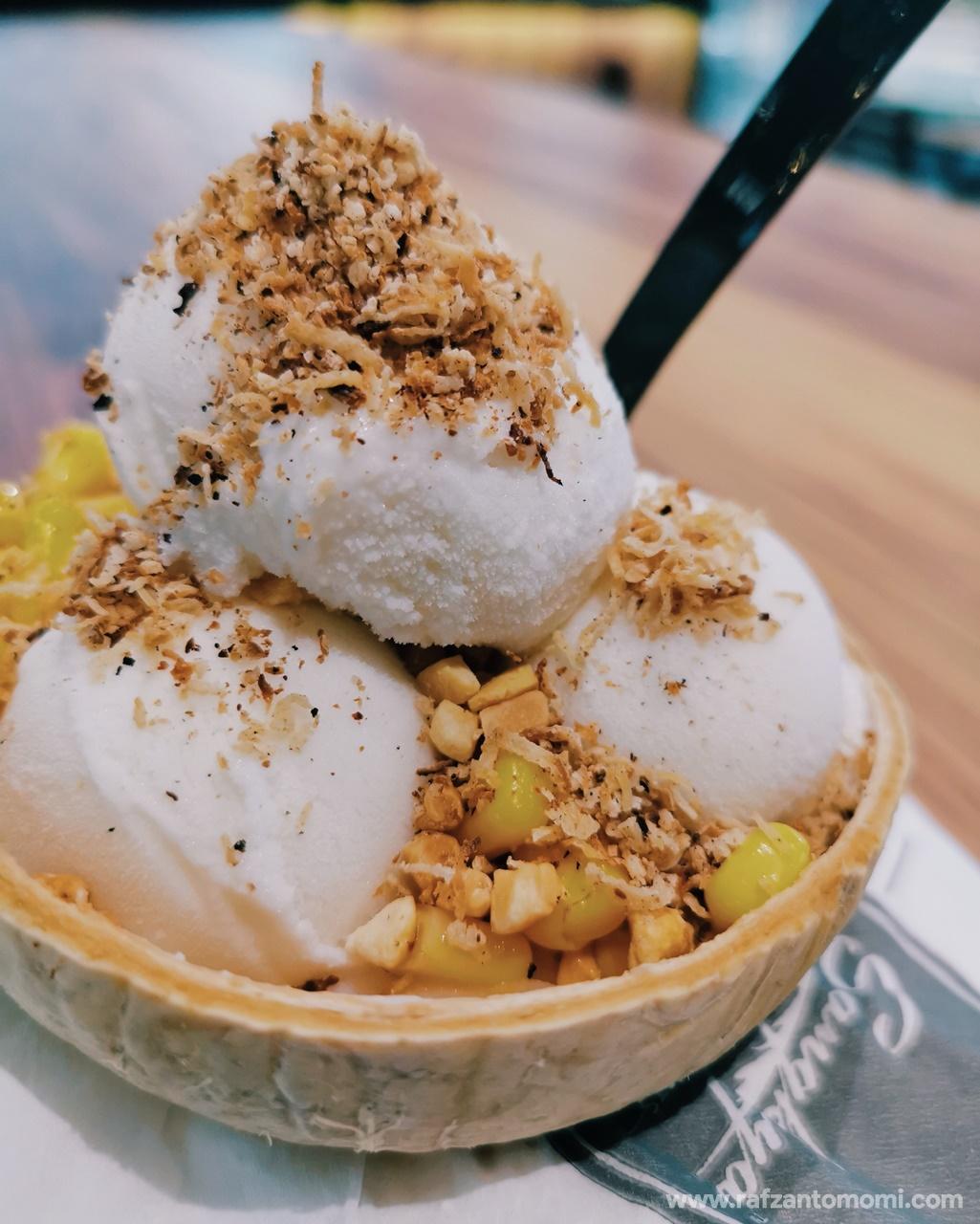 Coconut Durian Ice Cream, Sangkaya - Cuba Try Test Tengok