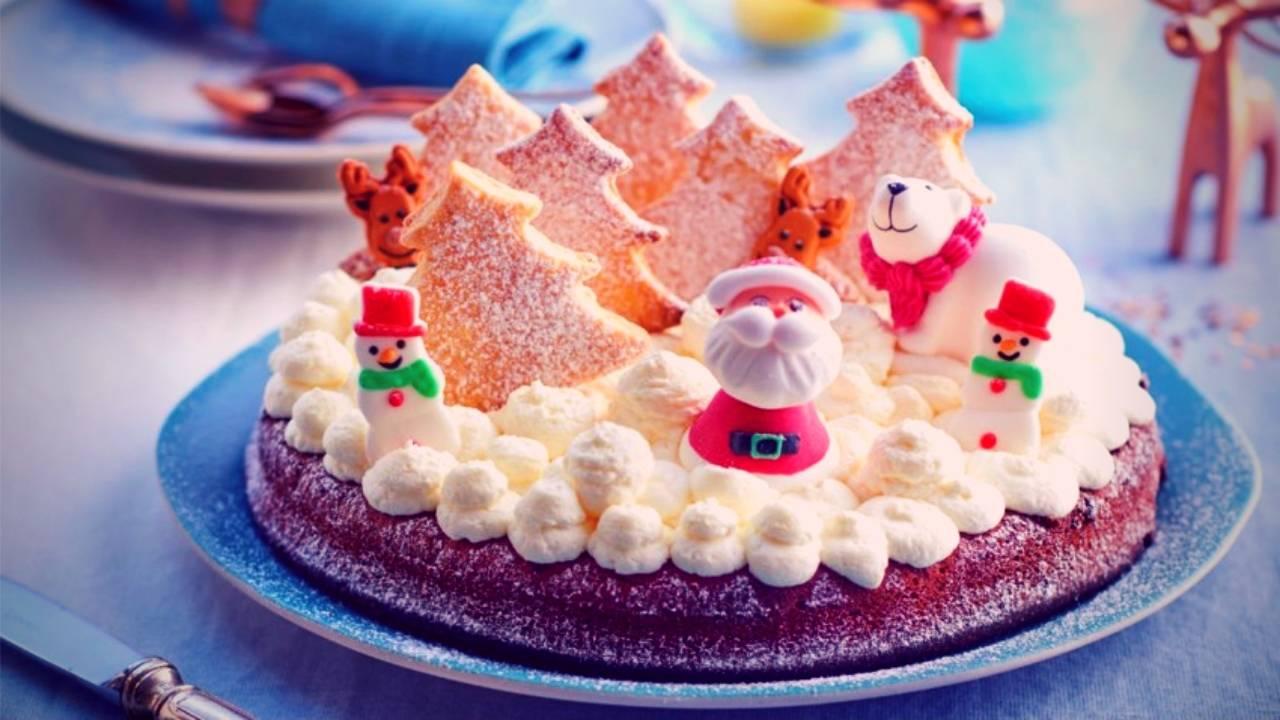 Santa's soft chocolate fondant