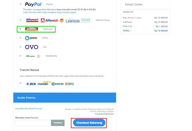 cara pembayaran beli domain di niagahoster