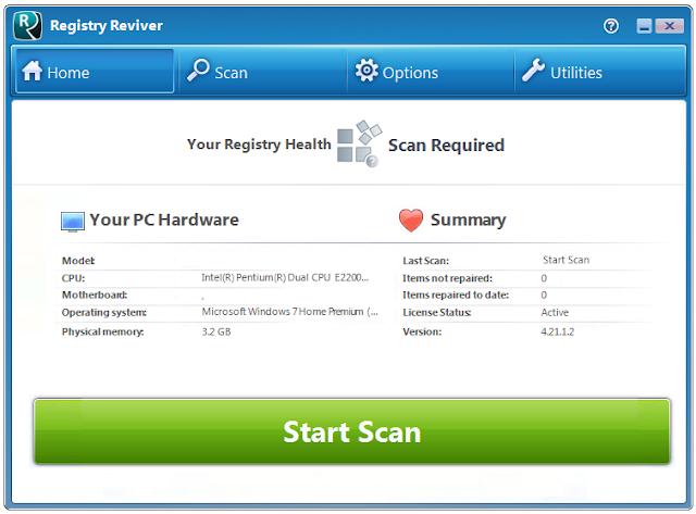 Screenshot Registry Reviver 4.21.1.2 Full Version