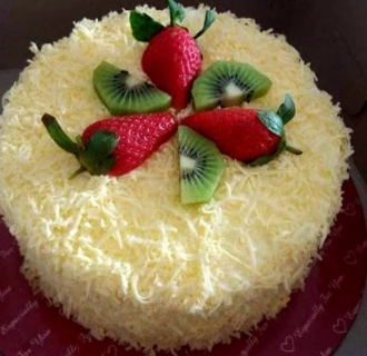 membuat kek cheese leleh enak