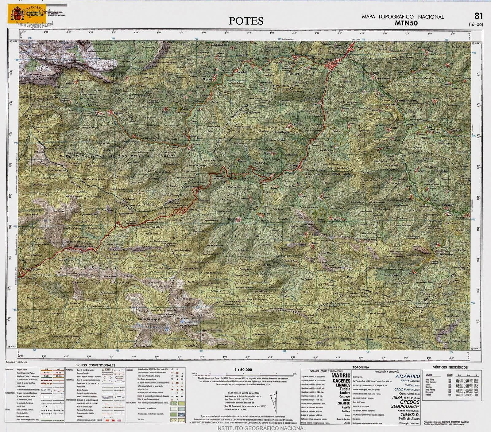 De Perdidos Al Bosque El Mapa Topografico