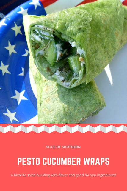Pesto Cucumber Wrap:  A series of wonderful vegetarian dishes pair perfectly together for a Fall/Winter Picnic, indoors or out! - Slice of Southern