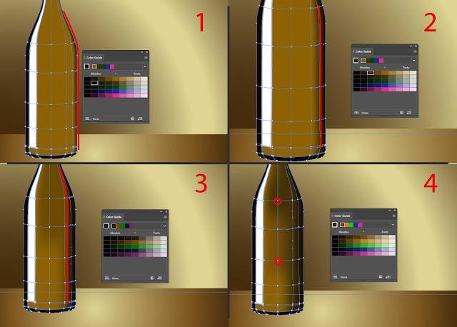 Cara menggambar botol dari kaca dengan adobe illustrator