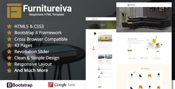 Best Responsive Furniture HTML Template