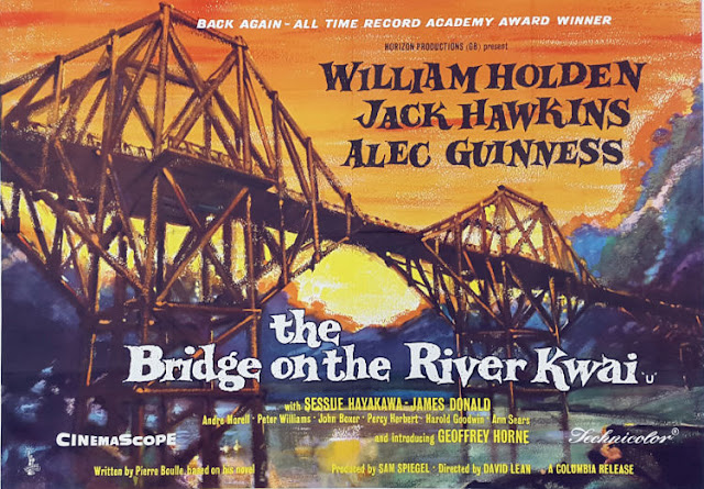 Original film poster for The Bridge on the River Kwai