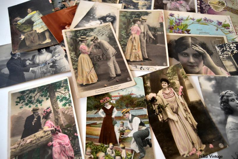 postales, postales antiguas, foto postal, fotografia antigua, lote