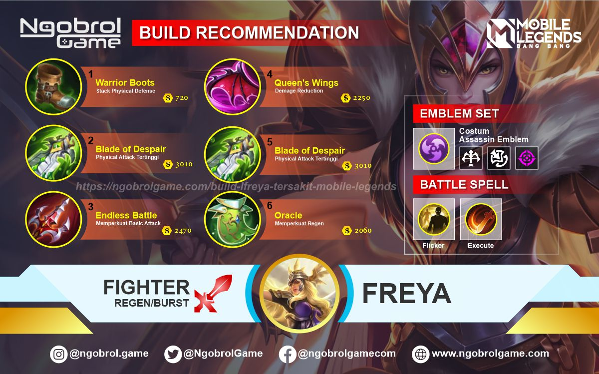 Build Freya Tersakit 2021 Mobile Legends