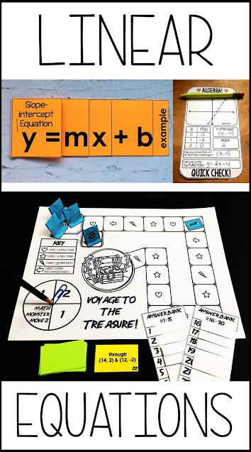In this post, I want to share some of the linear equations activities I've made over the years and their recent digital updates.