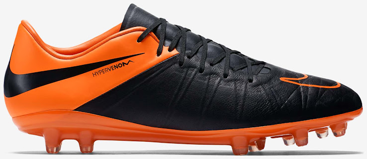 sports shoes 1c8d7 7f941 Nike Hypervenom Phinish Football Boot - Black   Orange