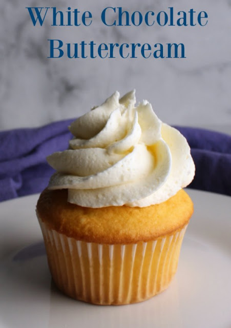 This white chocolate buttercream Frosting recipe is one of my all time favorites and I LOVE frosting, so I don't say that lightly.  It is so creamy, fluffy and fun and the white chocolate flavor really carries through!