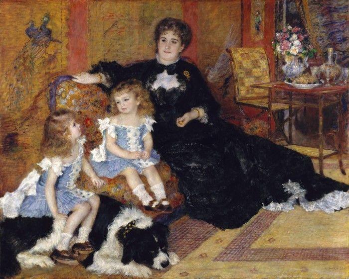 Мадам Жорж Шарпантье и ее дети, Жоржет-Берт и Поль-Эмиль-Шарль, Огюст Ренуар