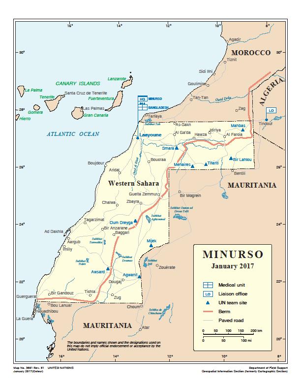 La misión de la ONU en el Sáhara sigue sin operar a plena capacidad