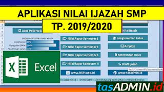 Aplikasi nilai ijazah SMP tahun pelajaran 2019/2020