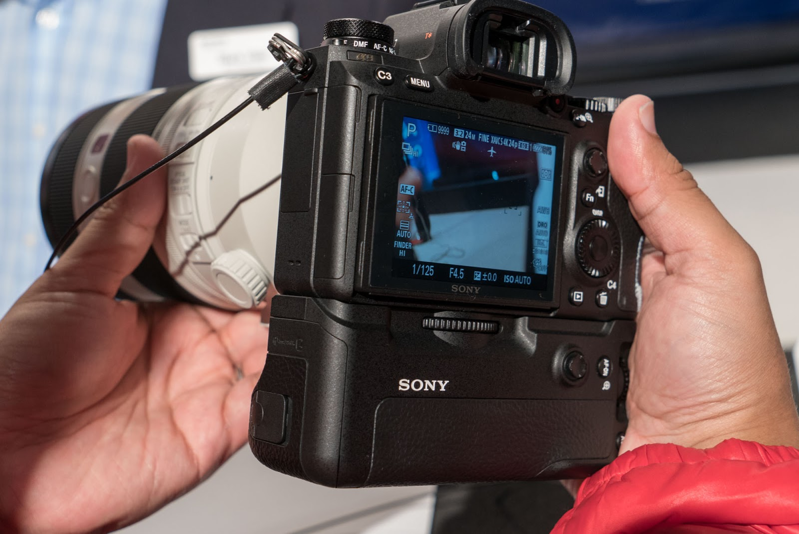 Sony A9 с батарейным блоком
