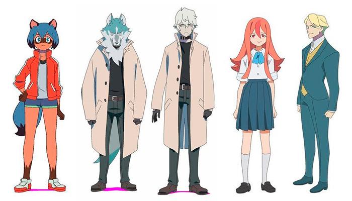 BNA: Brand New Animal anime - personajes