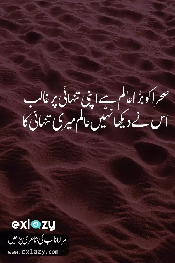 The Best of Mirza Ghalib Poetry 2 Line - ExLazy
