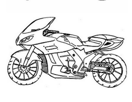 Desenhos De Motos Para Imprimir