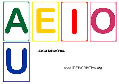 Jogo educativo Letra Inicial Vogais
