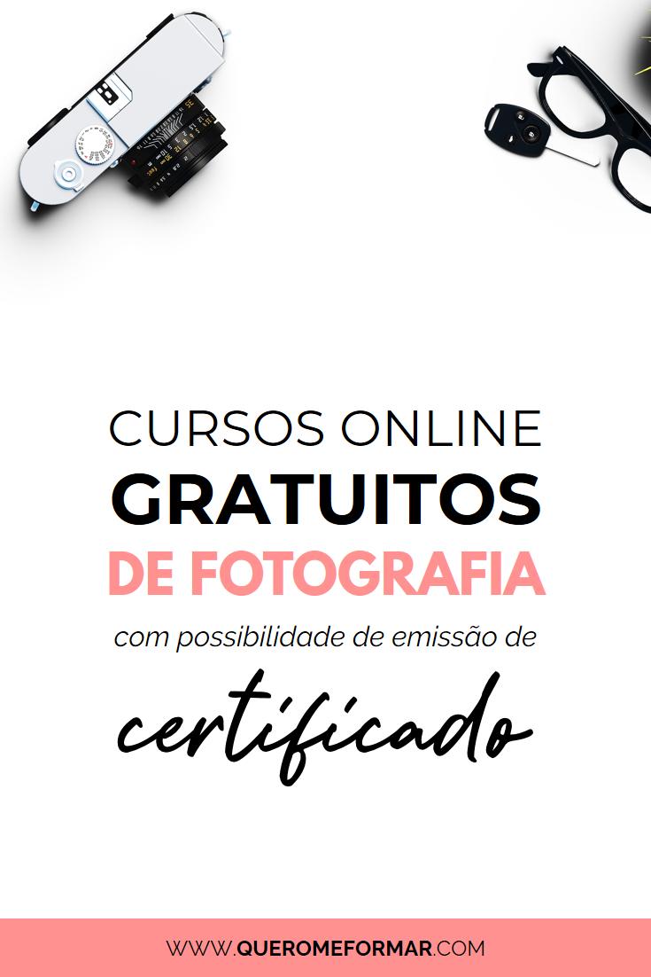 Imagens para Pinterest Cursos de Fotografia Online Grátis e com Certificado*
