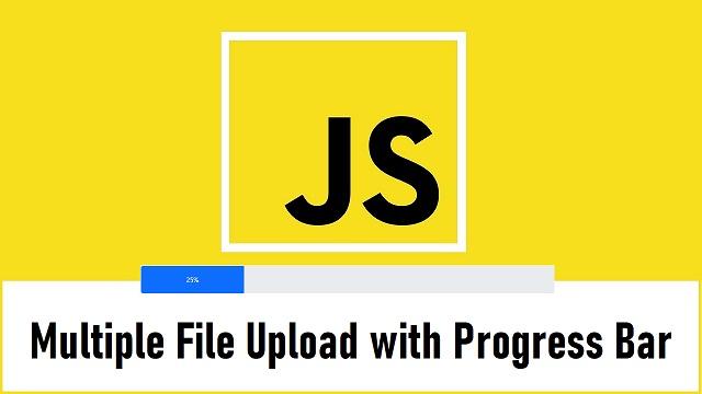 JavaScript Multiple File Upload Progress bar with PHP