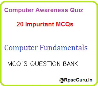 MCQs for Computer Fundamentals