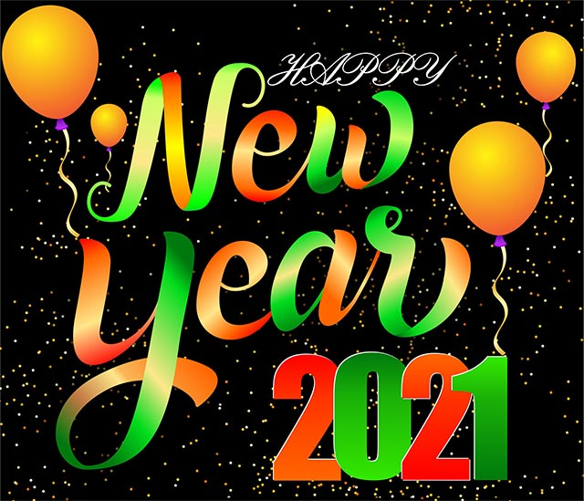 Happy New Year 2021 Free Vector Image CorelDraw Design Cdr File Download