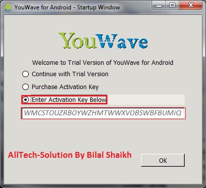 Youwave activation key