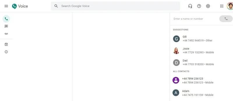 إرسال رسائل نصية من كمبيوتر Google Voice
