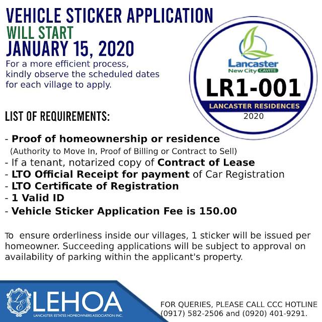 Car Sticker Application at Lancaster New City